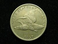NEW INVENTORY! GORGEOUS!  AU 1857 U.S. FLYING EAGLE CENT  *COLLECTIBLE COIN* #1P