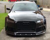 Front Bumper Valance Chin Carbon P Performance Spoiler Lip For Audi RS6 C7
