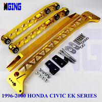 Billet Rear Subframe Brace Control Arm Tie Bar For 96-00 Honda Civic F7 EK Lca
