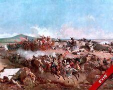 CAVALRY BATTLE OF TETOUAN PAINTING SPANISH MORROCAN AFRICA WAR ART CANVASPRINT