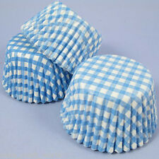 Blue Gingham Cupcake Cases, Pack of 54