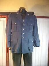 Vintage Men's Button-Up Wool Blend Blue Military Jacket