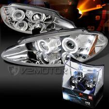 98-04 Dodge Intrepid Chrome Halo LED Projector Headlights+H3 Halogen Bulbs