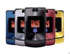 MOTOROLA RAZR V3 Flip TELEFONO CELLULARE FOTOCAMERA BLUETOOTH TOP QUALITY