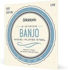 More details for d'addario ej60 banjo guitar strings nickel light 9-20