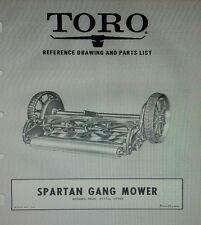 TORO SPARTAN Gang Reel Mower GENERAL Tractor Implement Owner & Parts Manual 1133