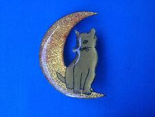 Broche Résine Chat sur la Lune par CAT'S / Cat on the Moon Brooch