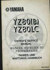(26A) REVUE TECHNIQUE MANUEL ATELIER MOTO YAMAHA YZ80 (B) et YZ80LC