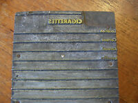 """Cigarettes"" Order Form Stamp - Metal on Wood Print Block : 3 1/4"" x  4 1/4"""