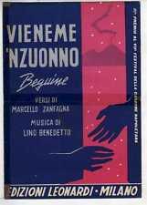 SPARTITI VIENEME 'NZUONNO Zanfagna/Benedetto - Canto/Mandolino/Fisa 1959