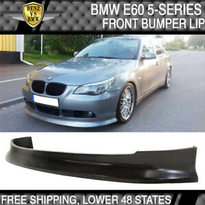 Fits 04-10 BMW E60 5 Series Sedan Front Bumper Lip (Not For M-Tech & M Bumper)