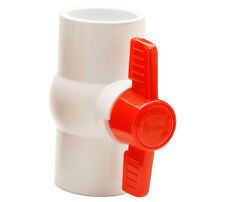 1-Inch PVC Ball Valve - White, Slip x Slip by Red Flag Products, Inc.