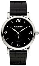 MODEL # 107072 | NEW MONTBLANC STAR AUTOMATIC BLACK DIAL 39MM STEEL MEN'S WATCH