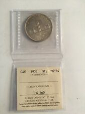 CANADA SILVER DOLLARS 1939 HIGH GRADE MS64