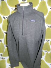 New With Tags men's Patagonia half zip better sweater brown jacket Xl