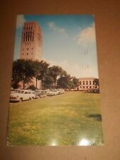 BURTON MEMORIAL CARILLON TOWER MICHIGAN ~ COLOUR PHOTO POSTCARD POSTED 1959