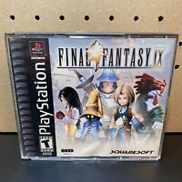 Final Fantasy IX 9 Black (Sony Playstation 1 PS1) (4 Discs) Tested