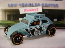 2016 VOLKSWAGEN Exclusive CUSTOM BEETLE☆Blue VW Bug;roof rack☆LOOSE Hot Wheels
