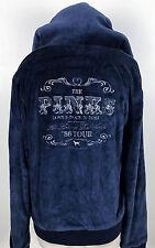 PINK Victorias Secret Blue LARGE L Love & Rock N Roll '86 Tour Velour Sweatshirt