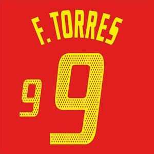 F. Torres 9. Spain Home football shirt 2003 - 2005 FLEX NAMESET NAME SET PRINT