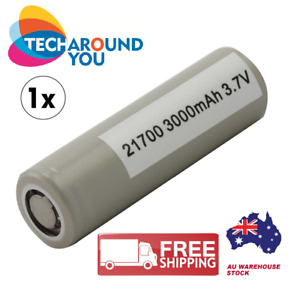 x1x2 Samsung INR21700 30T 3000mAh 35A Flat Top Lithium Battery with Battery Case
