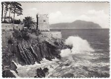 GENOVA CITTÀ 622 NERVI - GROPALLO Cartolina FOTOGRAFICA VIAGGIATA 1955