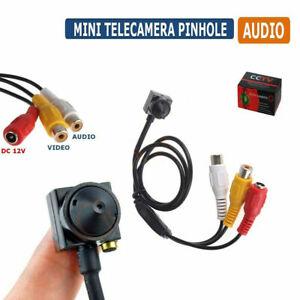 MINI MICRO TELECAMERA PINHOLE CAMERA COLORI AUDIO CON MICROFONO CCD 02D SC0