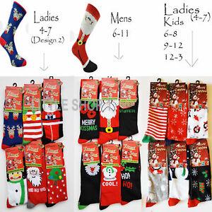 3,6 12 Socks Mens Ladies Christmas Socks Novelty Kids Stocking Filler Xmas Gift