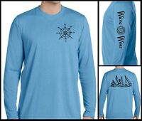 Microfiber Long Sleeve T Shirt UPF 50, boating fishing sailing life salt water