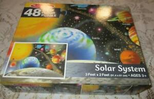 Solar System Floor Puzzle by Melissa & Doug 48 Large Pieces 3' x 2' Ages 3+ VGC
