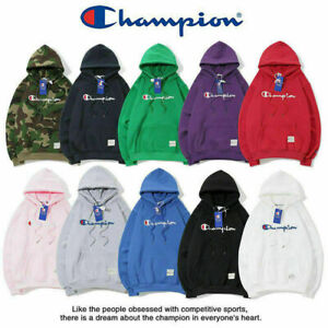 Champion Fashion Classic Women's Men's Hoodie Embroidered Hooded Sweater Outwear