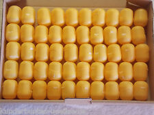 50 leere Ü-Ei Kapseln in gelb oder orange, Hochzeit, Adventskalender, Tombola