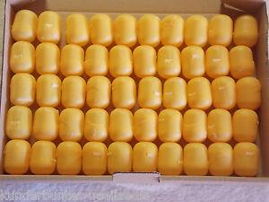 50 leere Ü-Ei Kapseln in gelb oder orange  Hochzeit, Adventskalender, Tombola