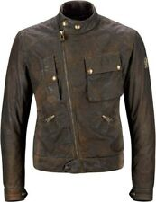 Belstaff Imperial Wax Cotton Motorcycle Jacket - Dark Brown Men New
