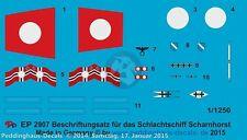 Peddinghaus 1/1250 Scharnhorst German Battleship Markings WWII w/Floatplane 2907