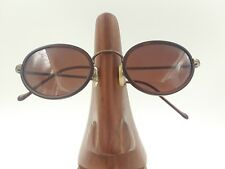 Vintage Ralph Lauren 928/S 4RP Bronze Metal Brown Oval Sunglasses Frames Italy