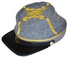 American Civil War Confederate Gris Major ou colonels KEPI Cap Large 58/59cms