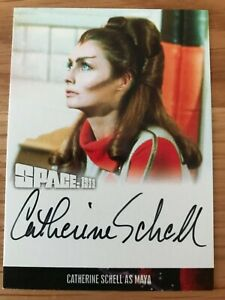 SPACE 1999 SERIES 4: AUTOGRAPH CARD: CATHERINE SCHELL AS MAYA CS1