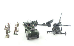 Collection Of Dinky / Britains & Similar Military Vehicles & Soldiers - Job-lot