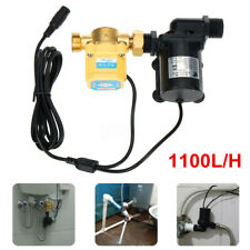 DC 24V Solar Water Pump Shower Heating Booster Brushless Motor Switch 1100L/H