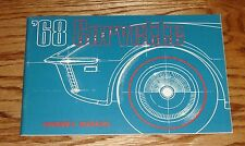 Original 1968 Chevrolet Corvette Owners Operators Manual 68 Chevy