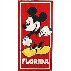 Disney Classic Mickey Mouse with Florida Beach Towel 28x58 Spring Summer