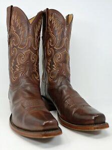 Lucchese Classics Handmade Buffalo Calf Cowboy Boots Men's 11D