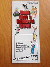 1976 WALT DISNEY WORLD Wow! What A Wonderful World BROCHURE Florida BOOKLET Rare
