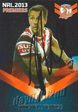 ✺Signed✺ 2013 SYDNEY ROOSTERS NRL Premiers Card MITCHELL PEARCE