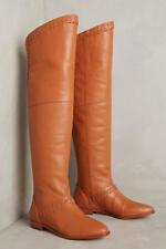 NEW Anthropolgie Candela Braided Riding Boots - Honey, womens 6.5