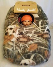 Car Seat Cover Ducks n Dogs Camo Fleece Cozy Custom Embroider Infant Baby Cover