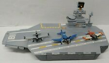 Disney Pixar Planes USS Flysenhower Aircraft Carrier Ship With 3 Planes
