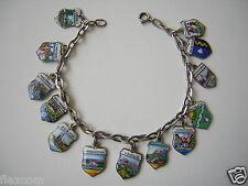 Silber Bettel-Armband mit 12 x Wappen 800/835/versilbert 18 cm/17,6 g