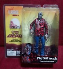 """Neca CULT CLASSICS Series 4 DAWN OF THE DEAD Plaid Shirt Zombie 7"""" Action Figure"""